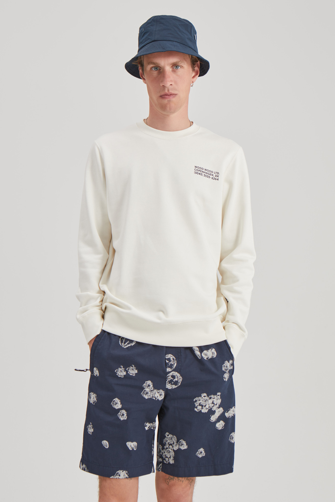 Hugh Sweatshirt Off White Print-3