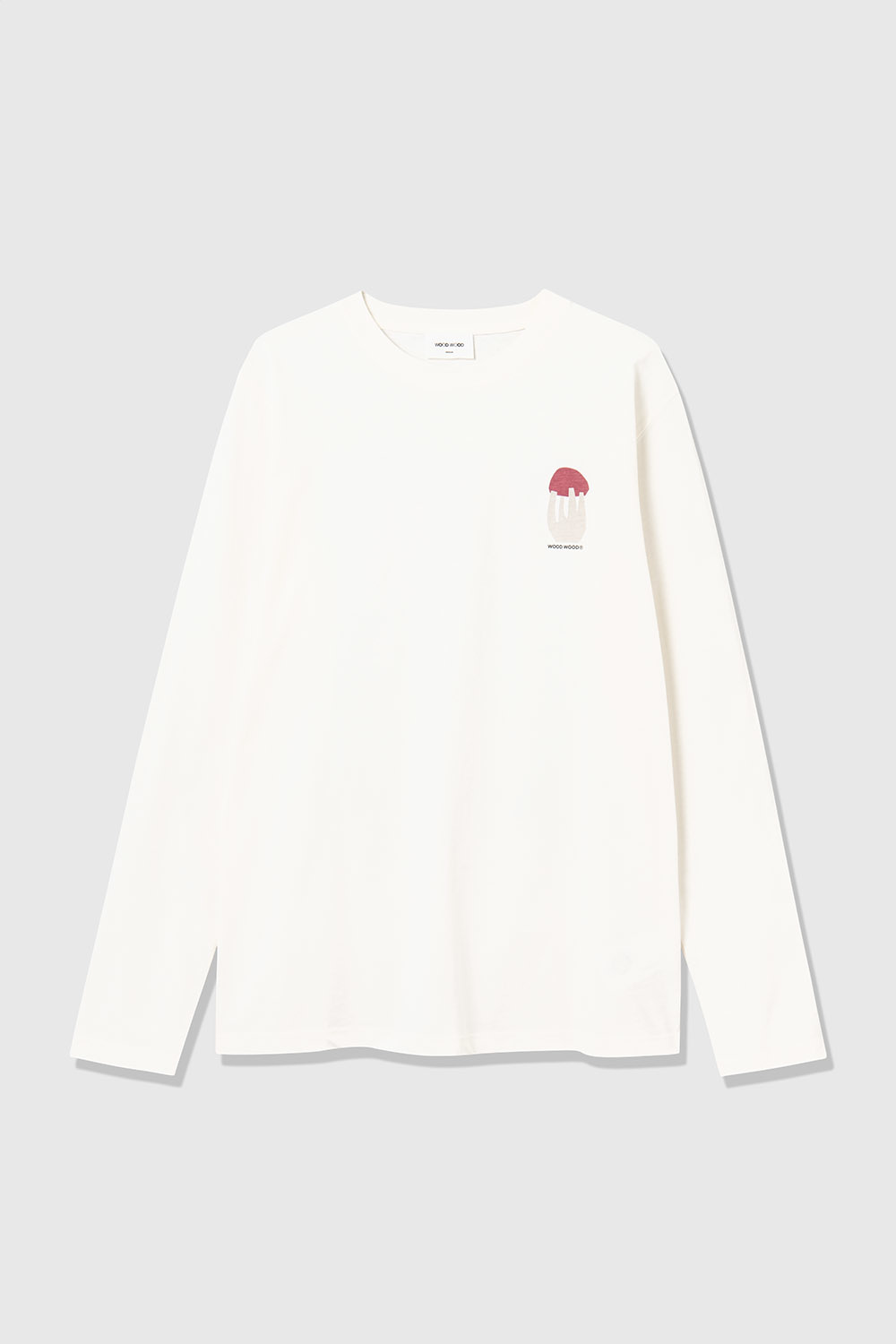 Peter Shroom Longe Sleeve White-2