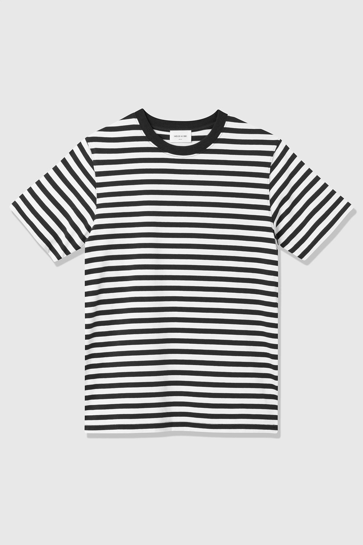 Sami Classic Streep T-Shirt Navy-Wit-1