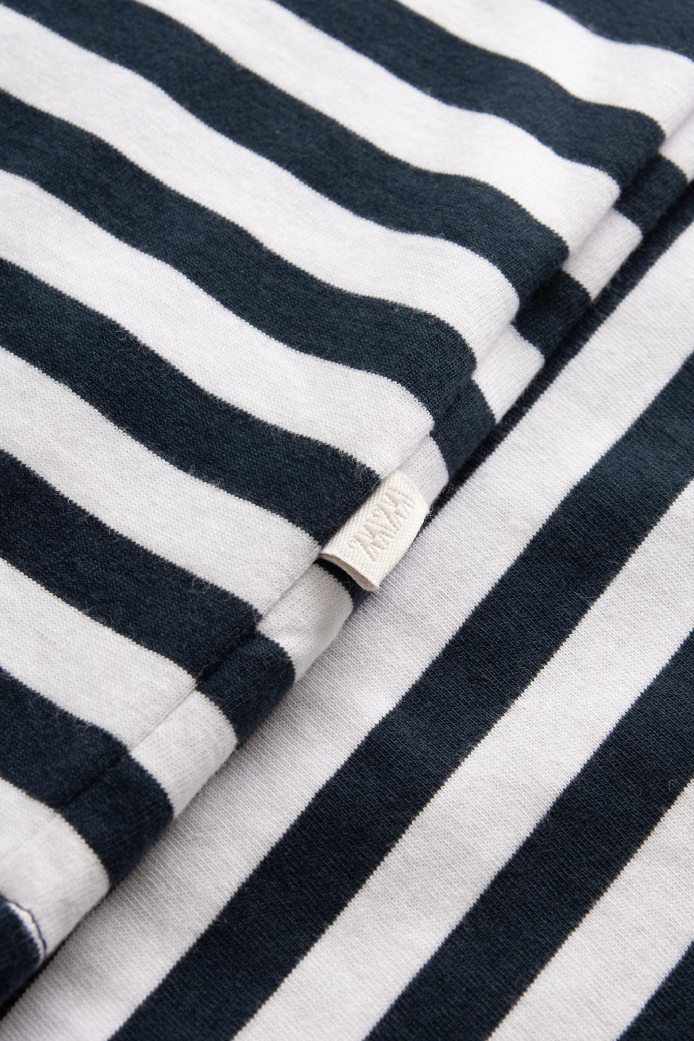 Sami Classic Stripe T-Shirt Navy White-2
