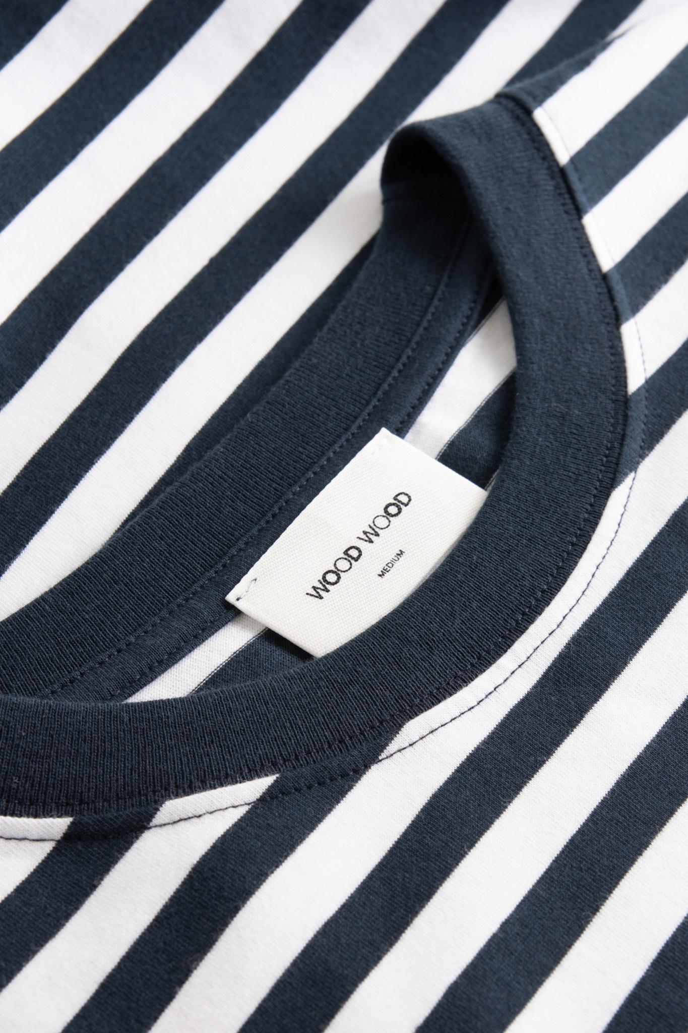 Sami Classic Streep T-Shirt Navy-Wit-3