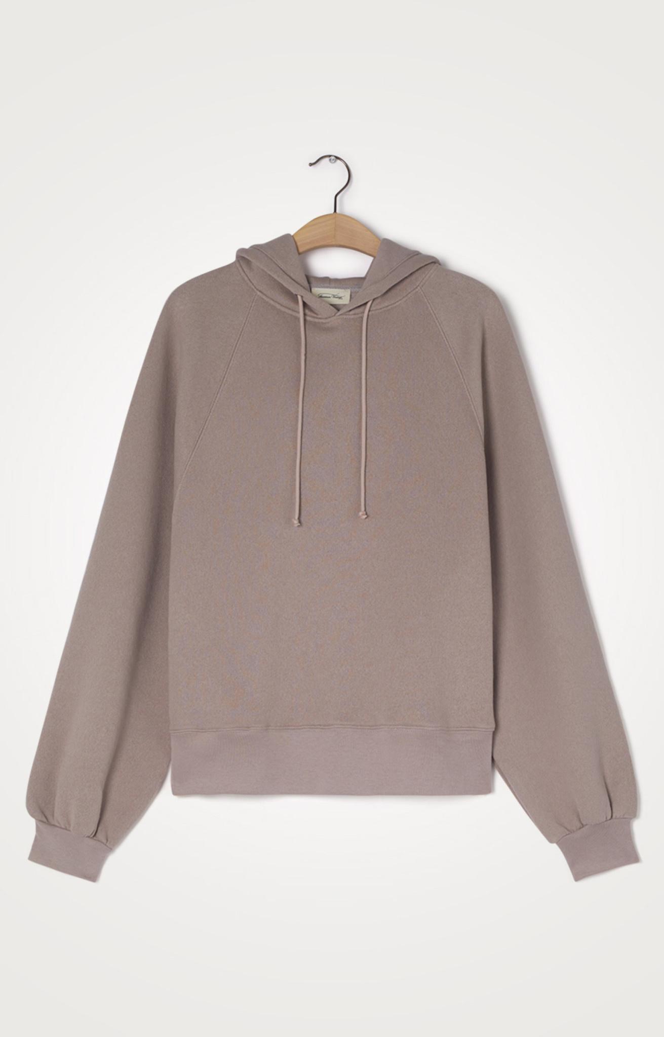 Ikatown Hoodie Sweatshirt Taupe Brown-1