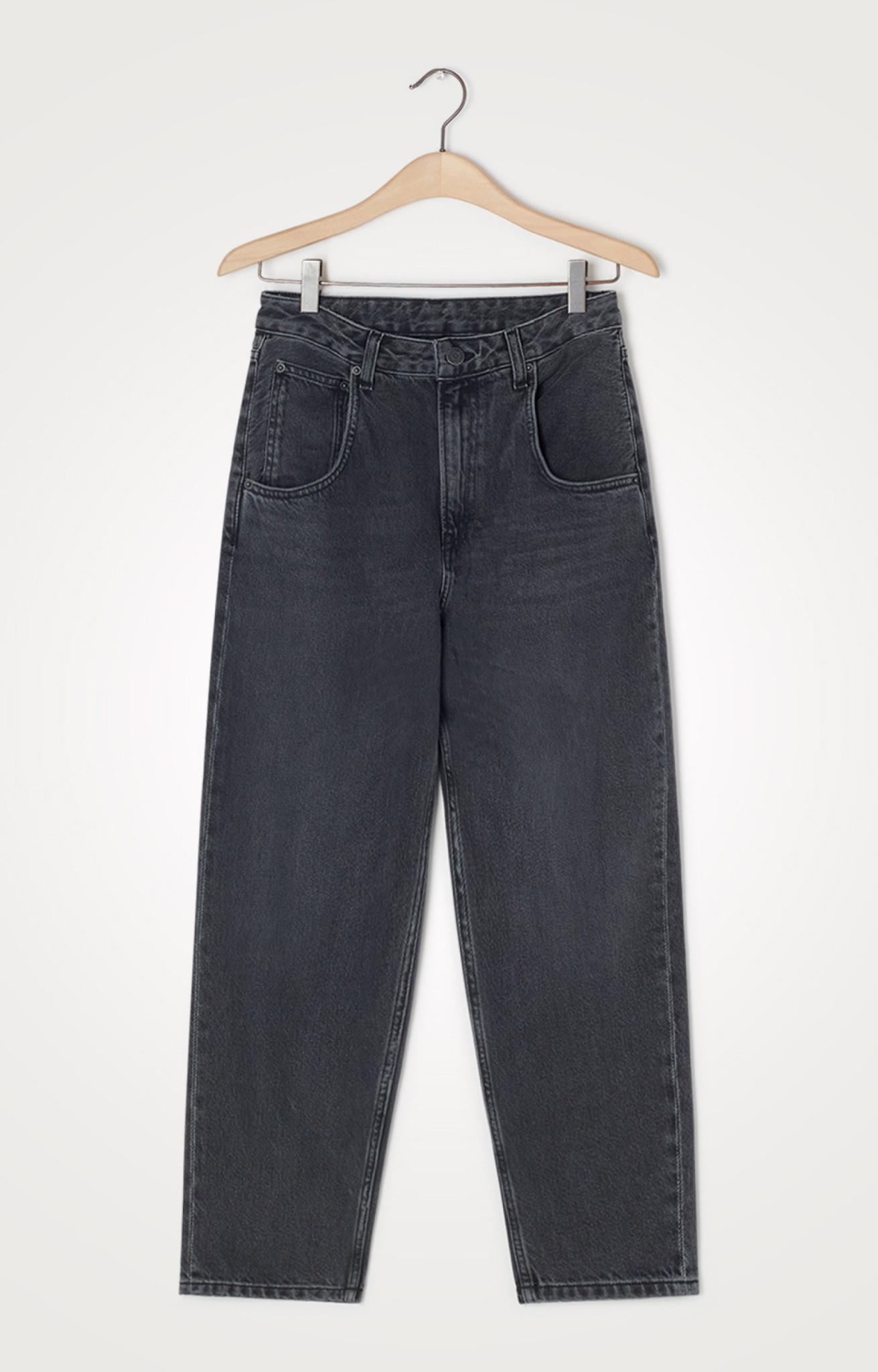 Yopday Black High Big Carrot Jeans-1