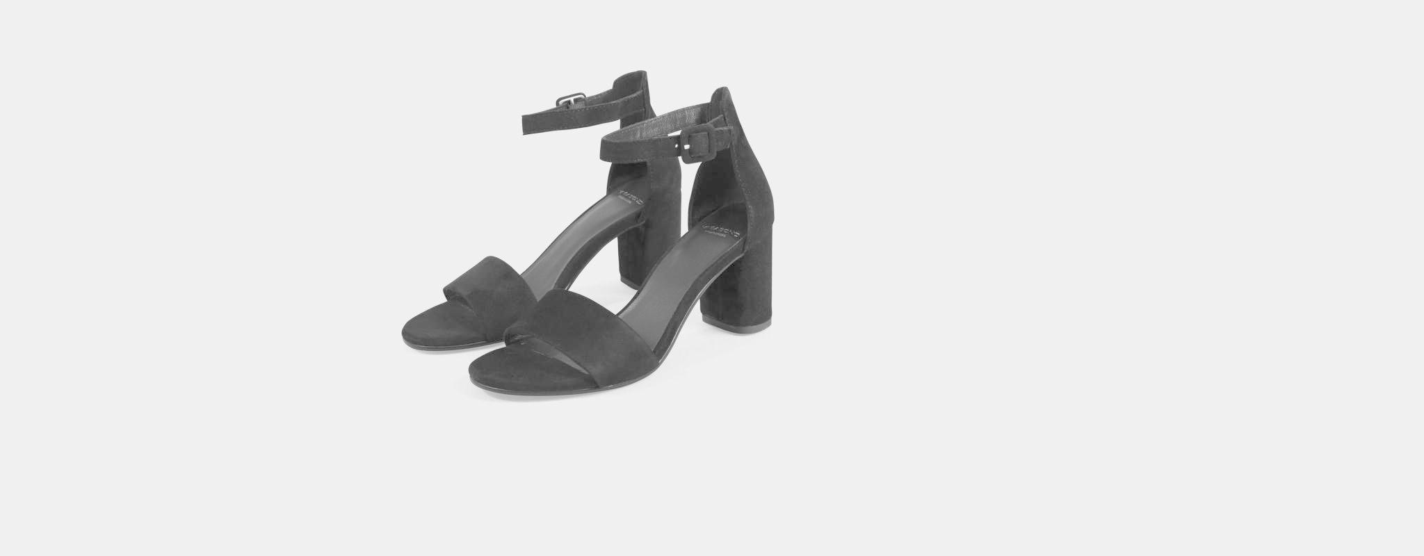 Penny Black Suede Open Block Heel-2