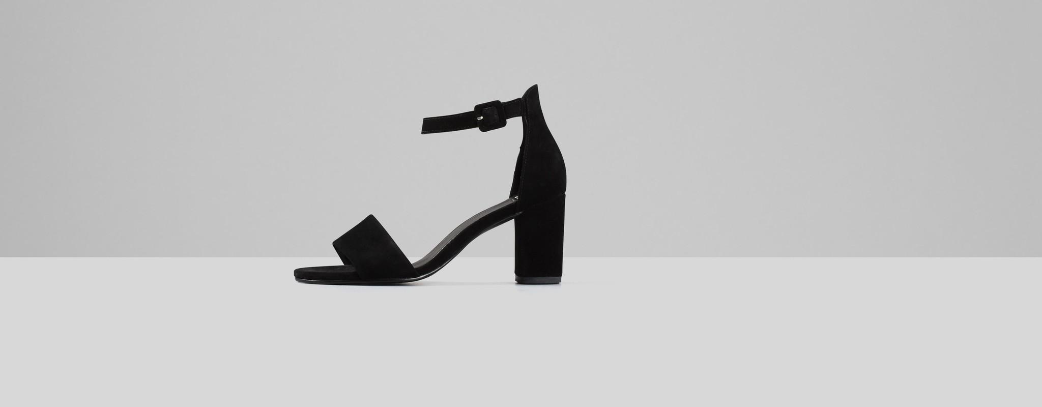 Penny Black Suede Open Block Heel-1