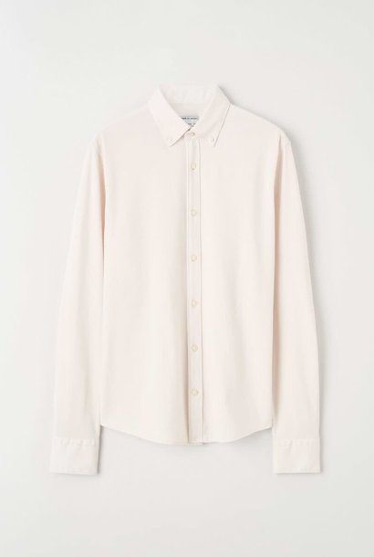 Fenald Pique Shirt Tinted White