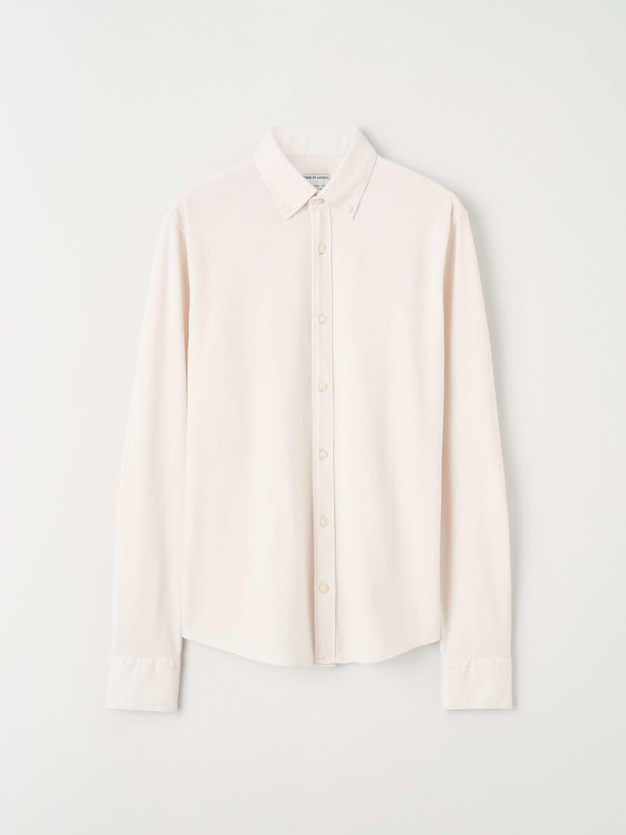 Fenald Pique Shirt Tinted White-1