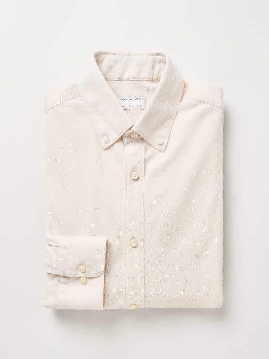 Fenald Pique Shirt Tinted White-2