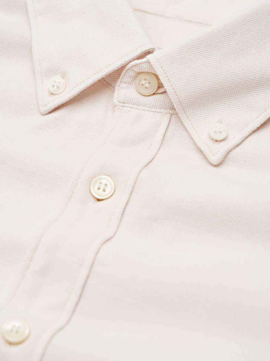 Fenald Pique Shirt Tinted White-3