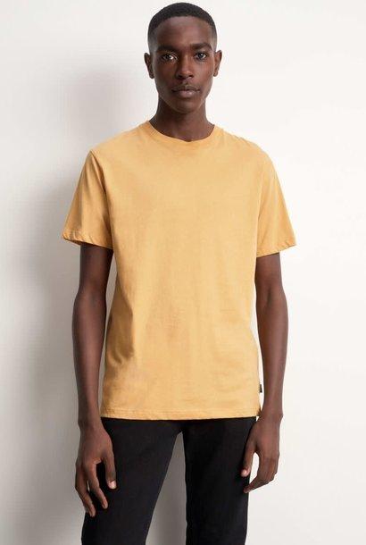 Fleek Regular Katoenen T-shirts Mosterd Geel
