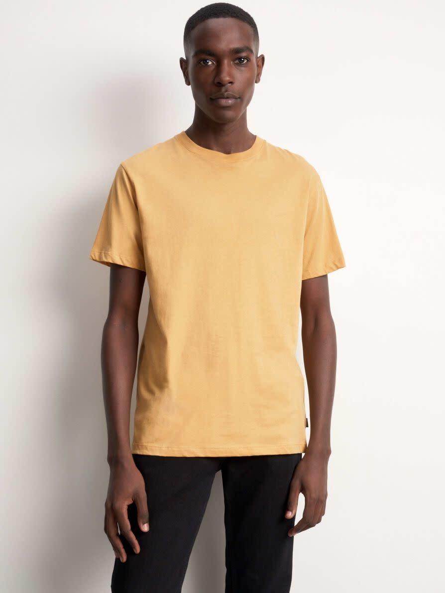 Fleek Regular Cotton T-shirts Musterd Yellow-1