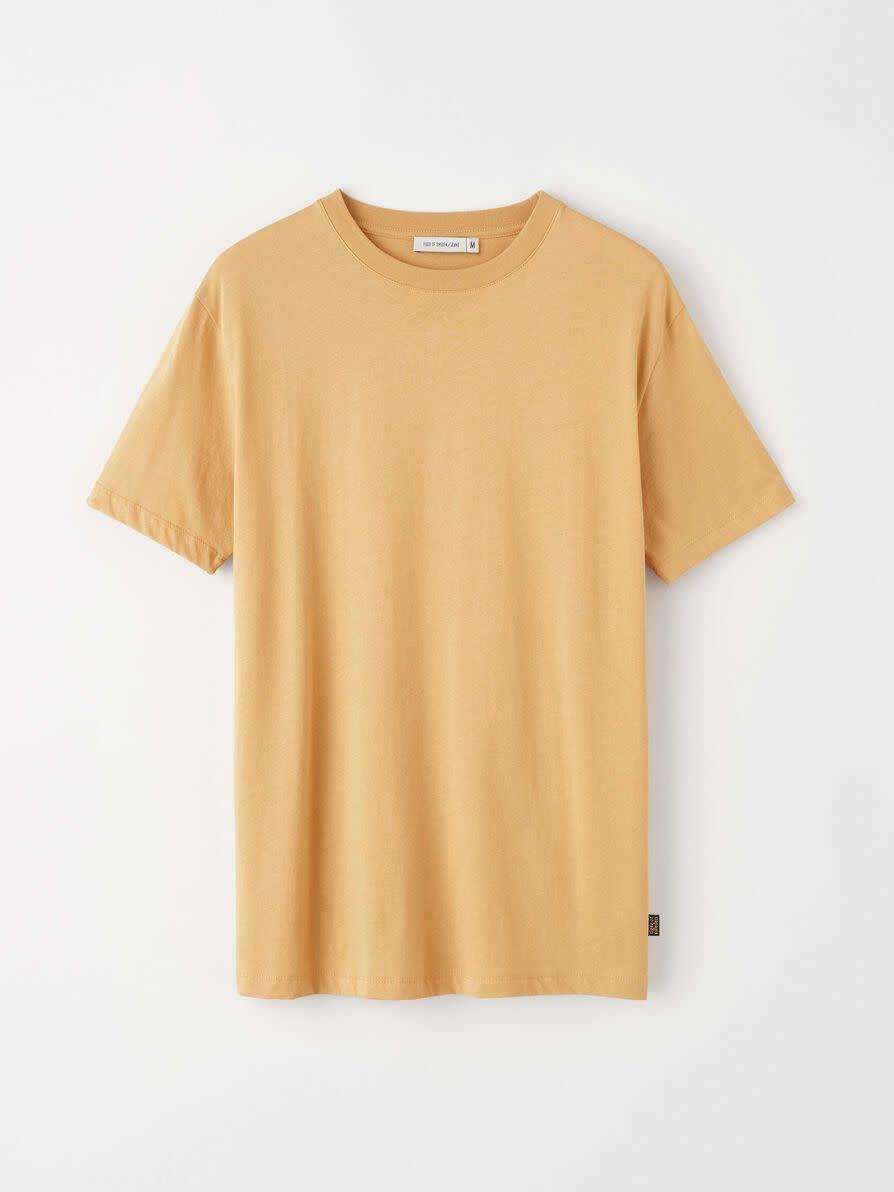 Fleek Regular Cotton T-shirts Musterd Yellow-3