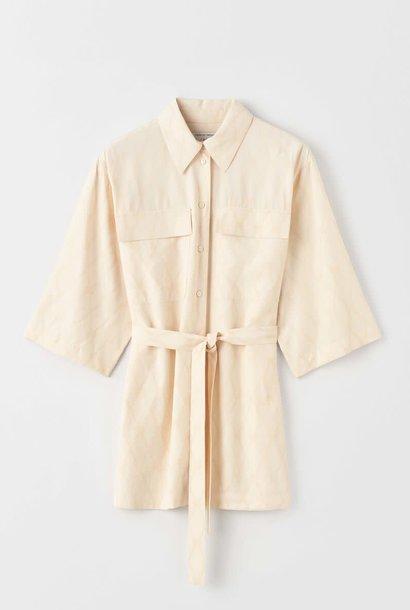 Vedos lange blouse crèmewit artwork