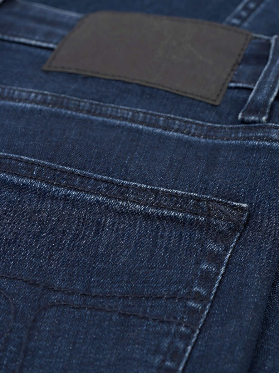 Shelly hoge taille slim fit jeans donker blauw-3