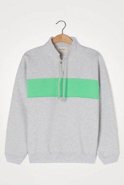 Baetown Stripe Heather Grey Sweatshirt
