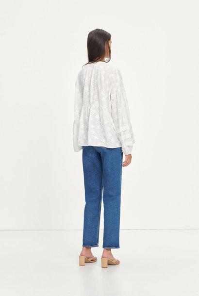 Roya Bohemian Cotton Blouse White