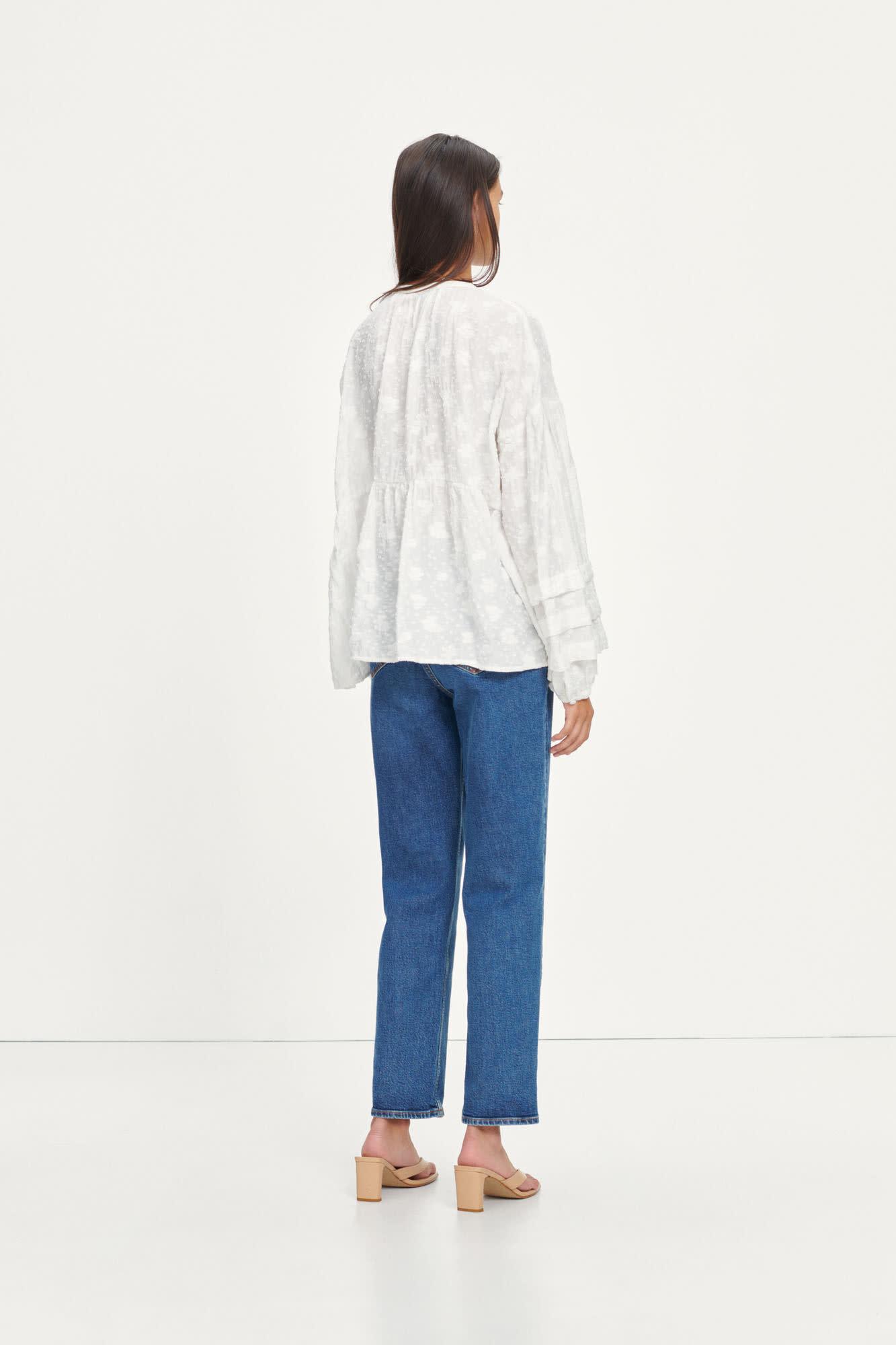 Roya Bohemian Cotton Blouse White-1