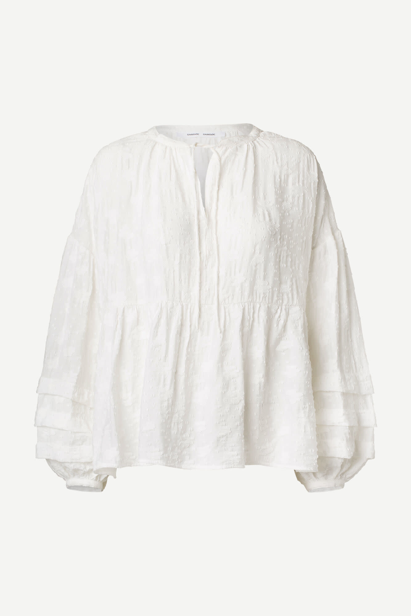 Roya Bohemian Cotton Blouse White-2