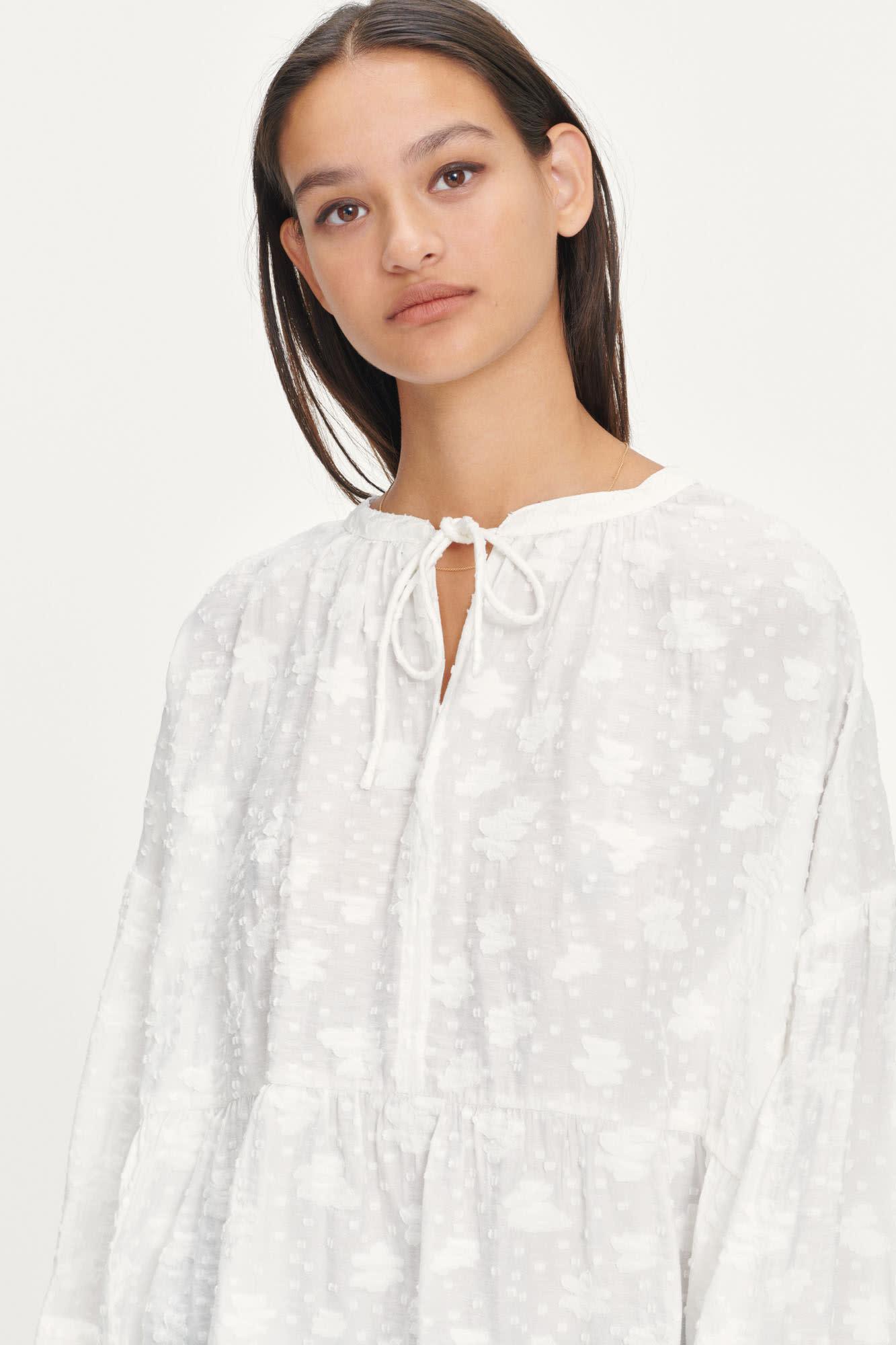 Roya Bohemian Cotton Blouse White-3