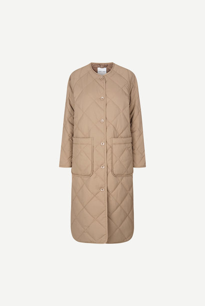 Rute Quilted Coat Caribou Brown