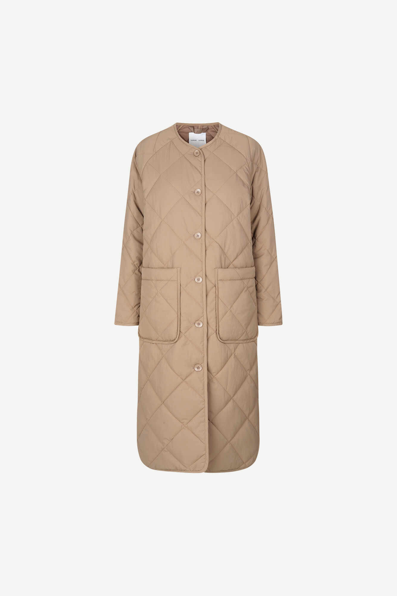 Rute Quilted Coat Caribou Brown-1