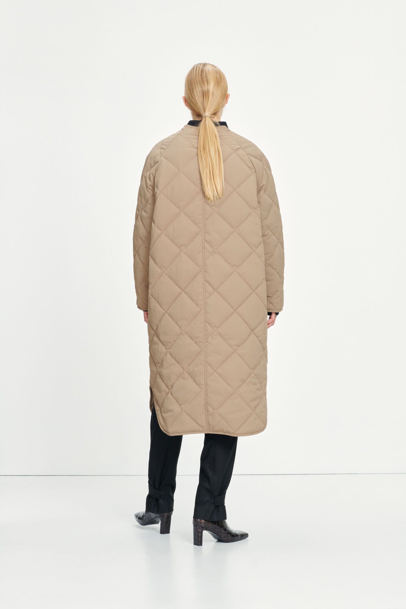 Rute Quilted Coat Caribou Brown-3