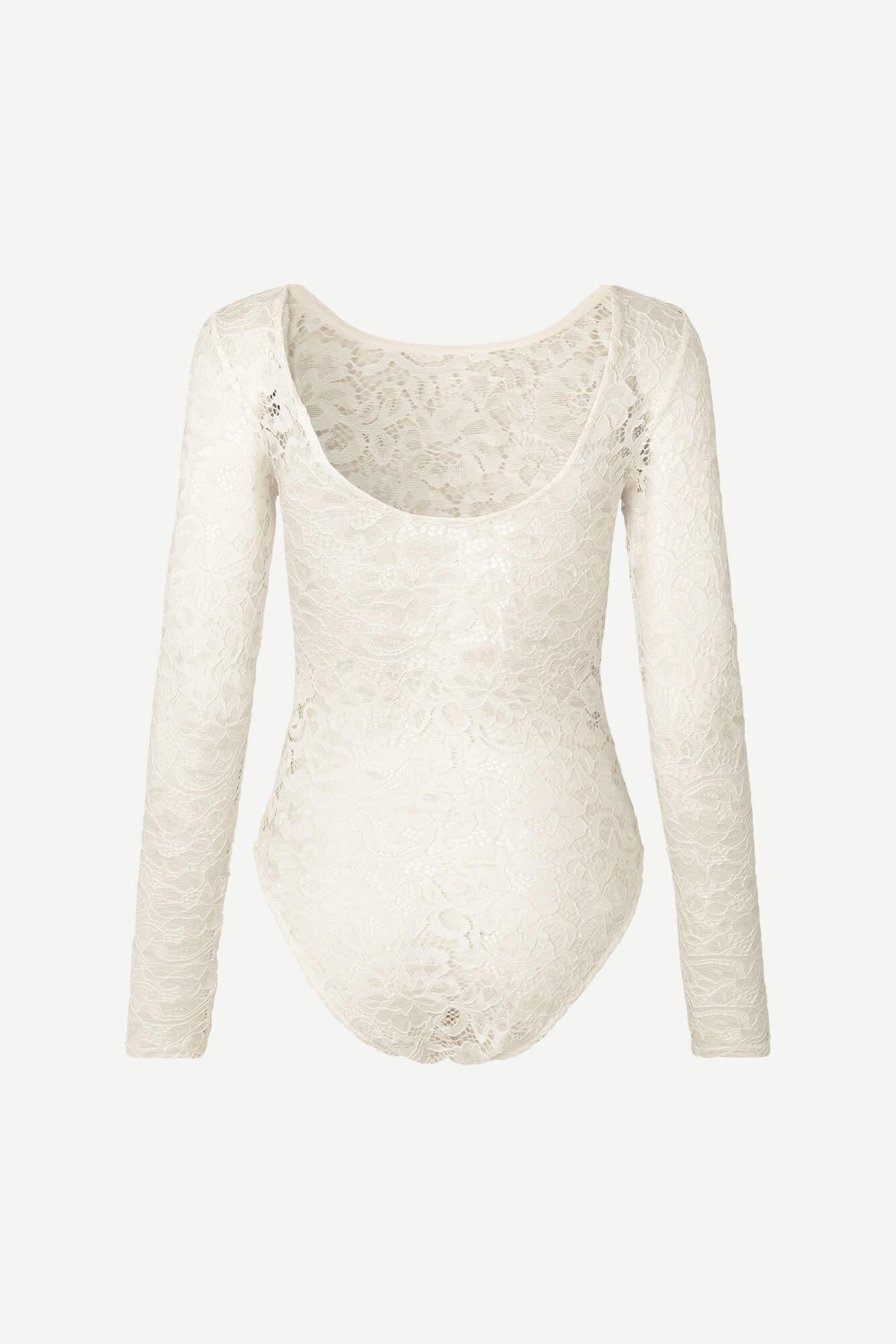 Maalika Lace Body Stocking Ecru White-1