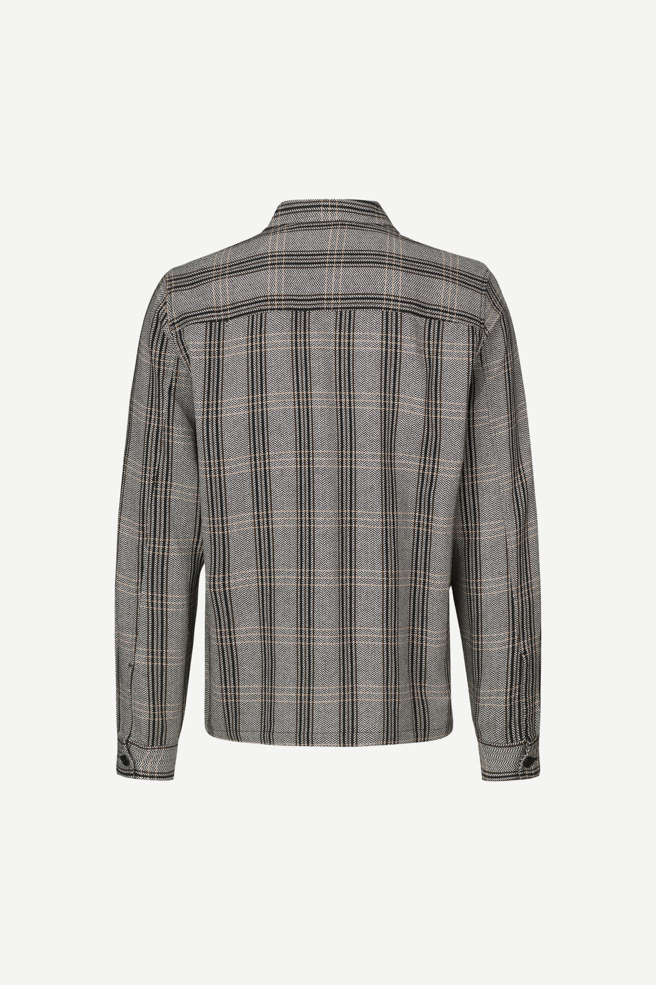 Ruffo Relaxed Fit Checker Shirt Black-2