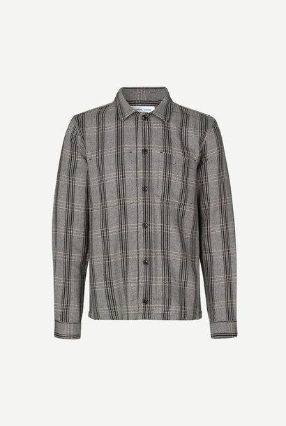 Ruffo Relaxed Fit Shirt Zwart Geruit