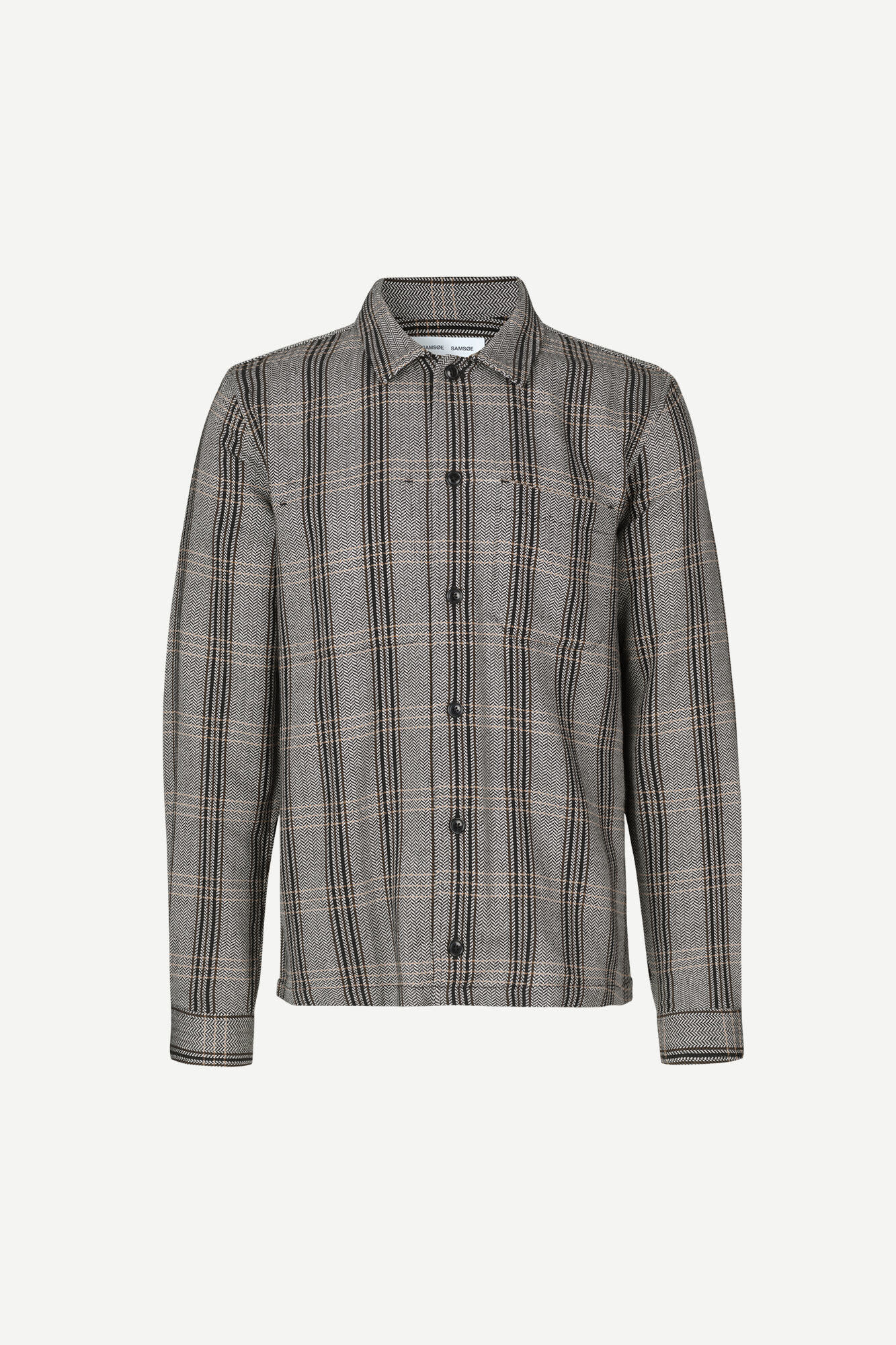 Ruffo Relaxed Fit Checker Shirt Black-1