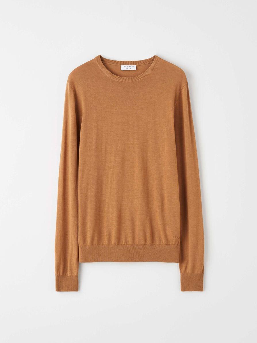Nichols Merino Wool Pullover Dromedary Brown-1