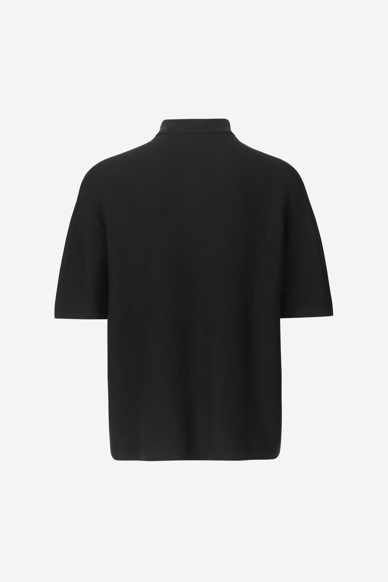 Leon Oversized Polo Black Knitted-2
