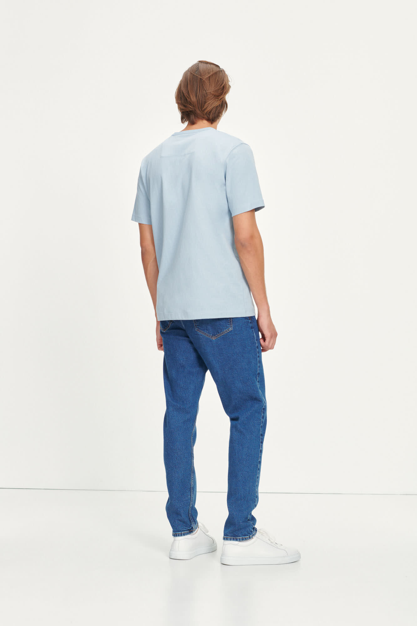 Hugo Cotton T-Shirt Dusty Blue-3