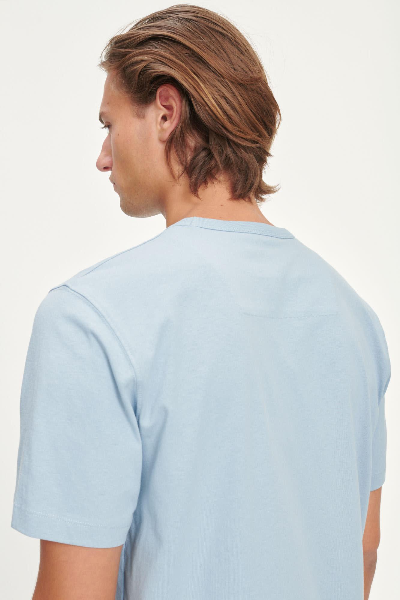 Hugo Cotton T-Shirt Dusty Blue-4