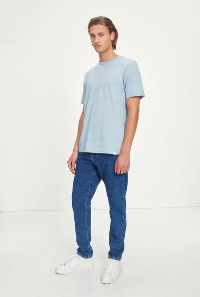 Hugo Katoen T-Shirt Light Blauw