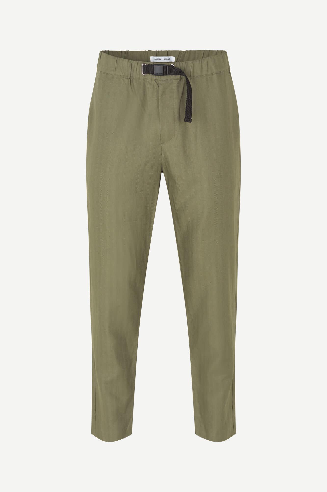 Agnar Relaxed Pants Deep Lichin Green-1