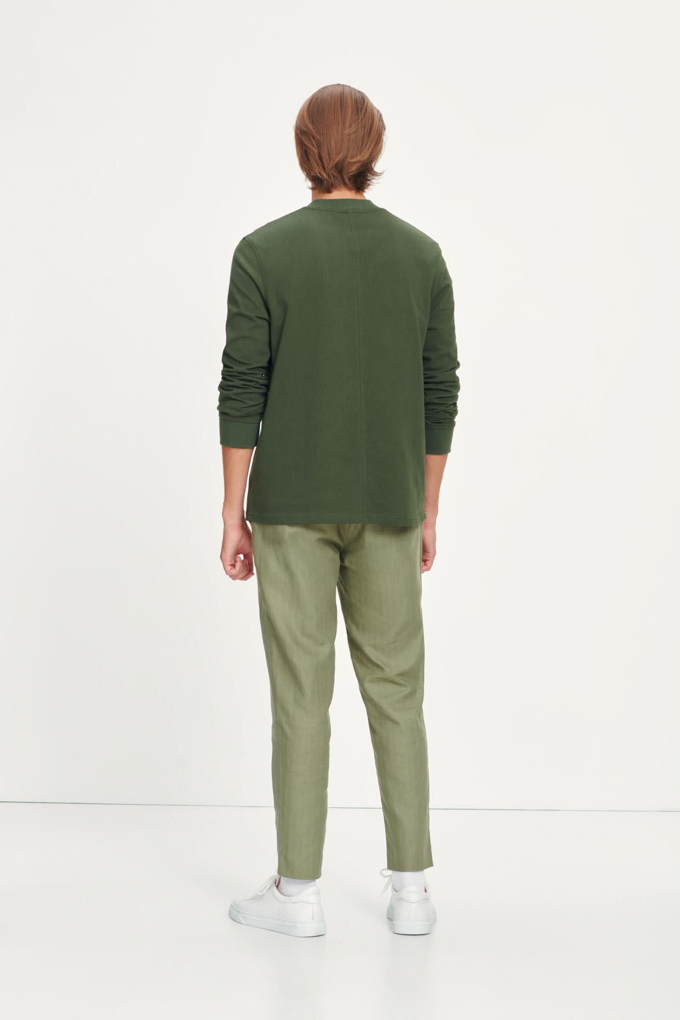 Agnar Relaxed Pants Deep Lichin Green-2