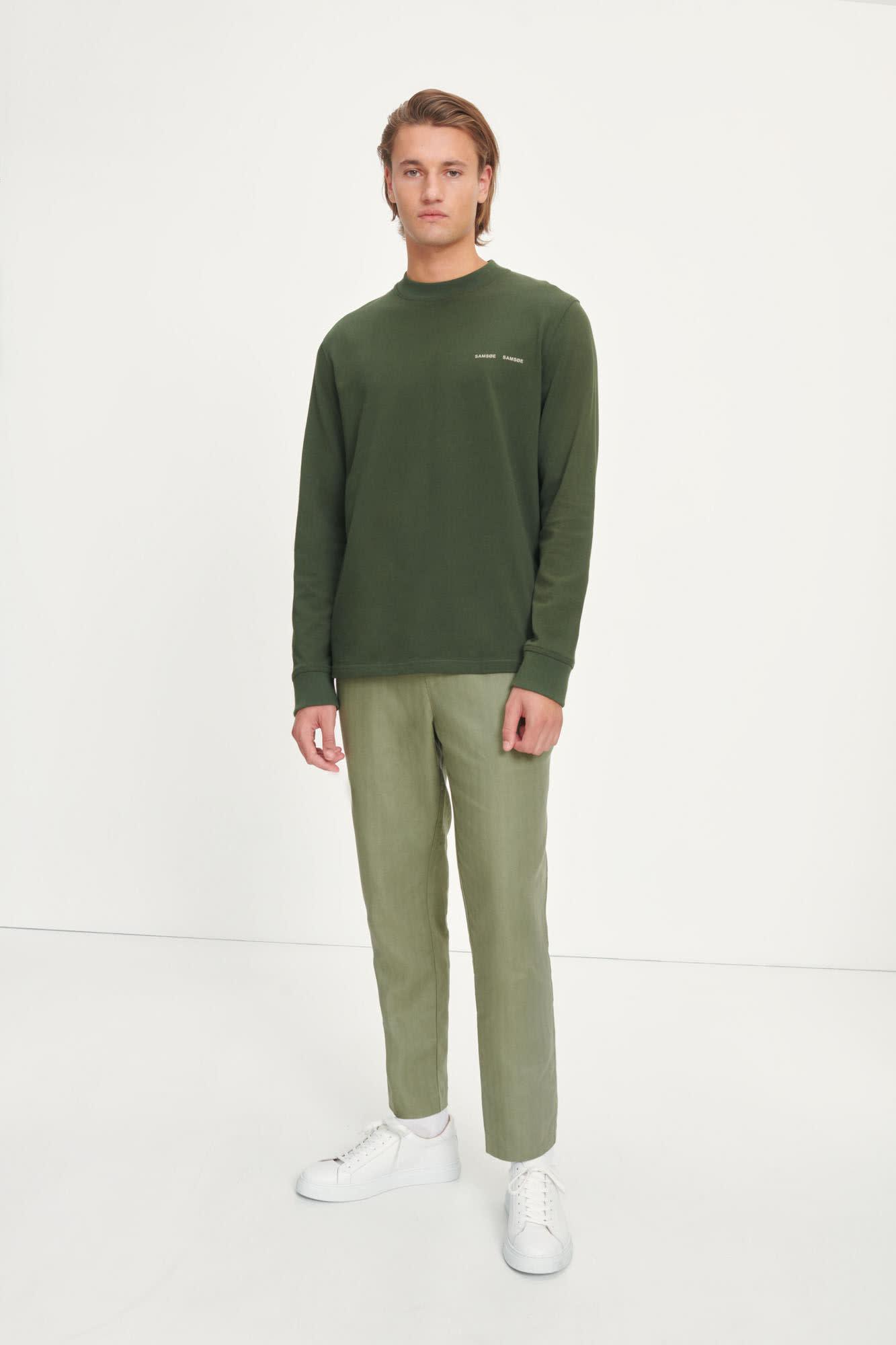 Agnar Relaxed Pants Deep Lichin Green-4