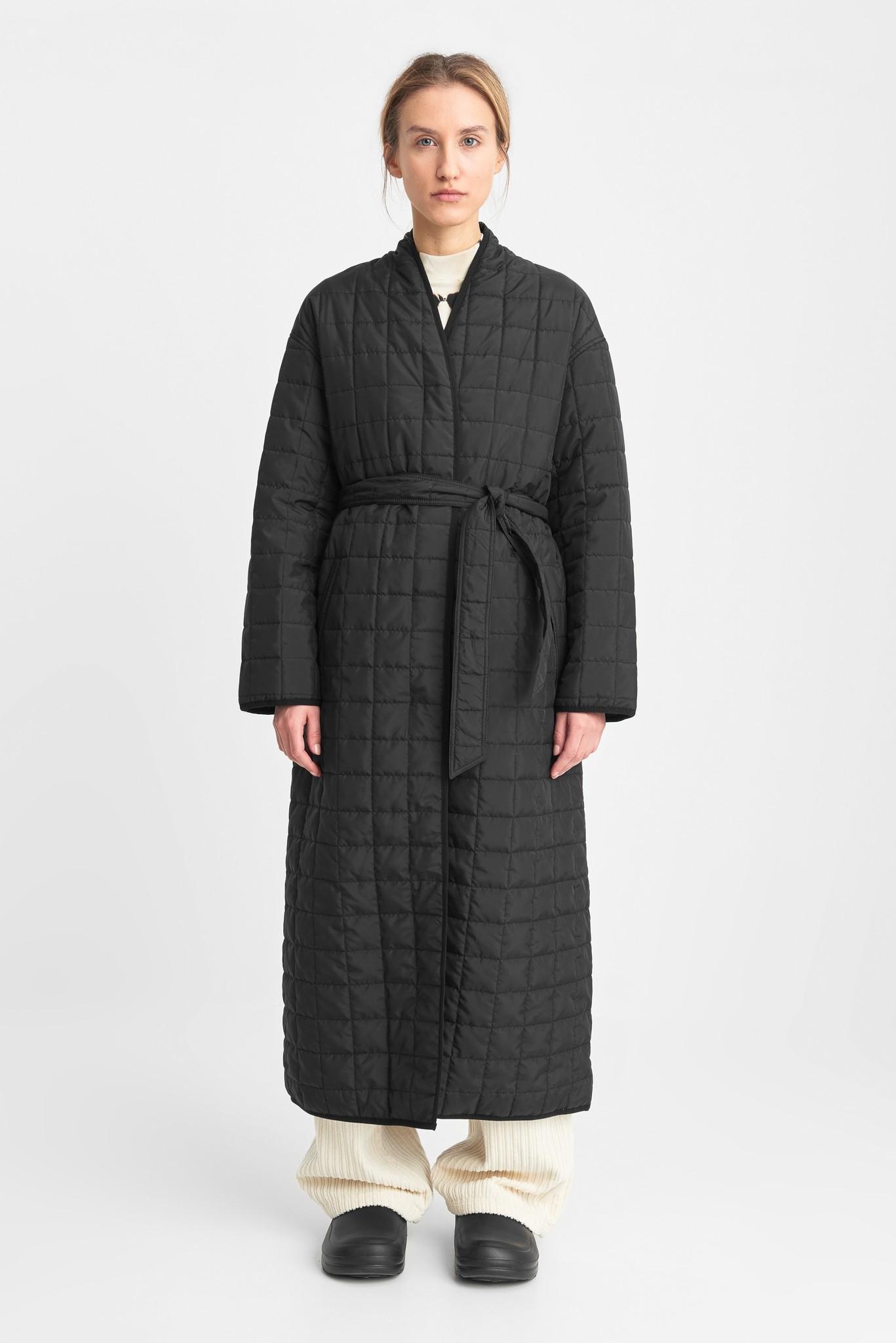 Lila lange gewatteerde oversized jas zwart-1