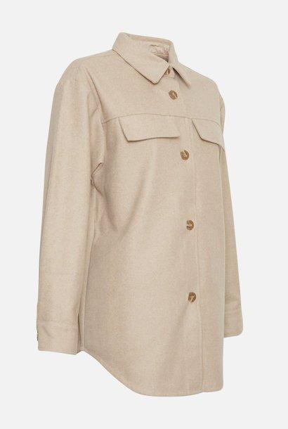 Maude White Pepper Overshirt Jacket