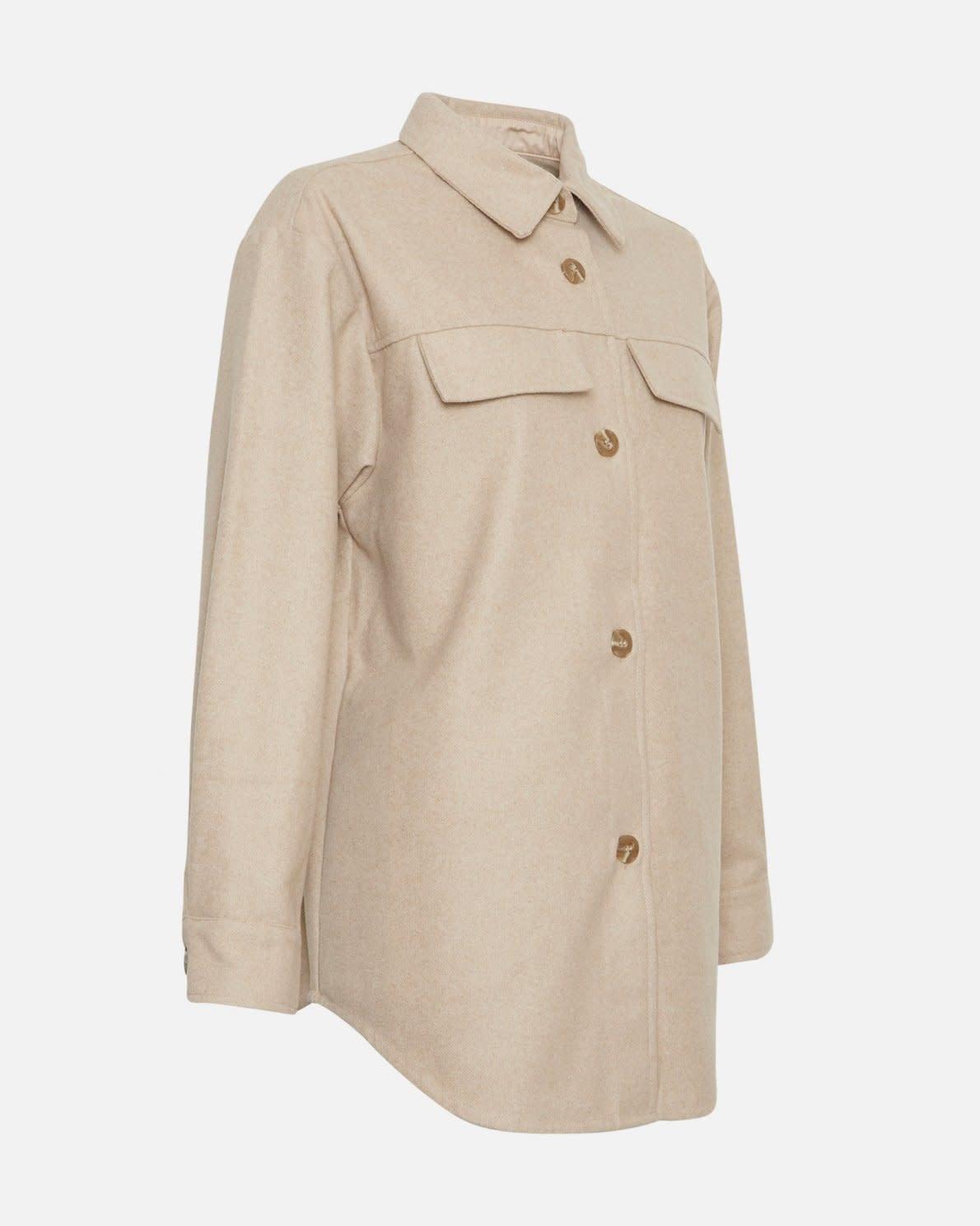 Maude White Pepper Overshirt Jacket-2