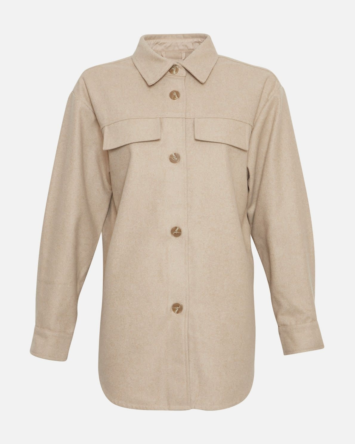 Maude White Pepper Overshirt Jacket-1