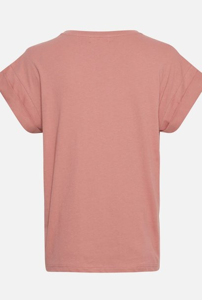 Alva Cotton T-shirt Ash Rose Pink