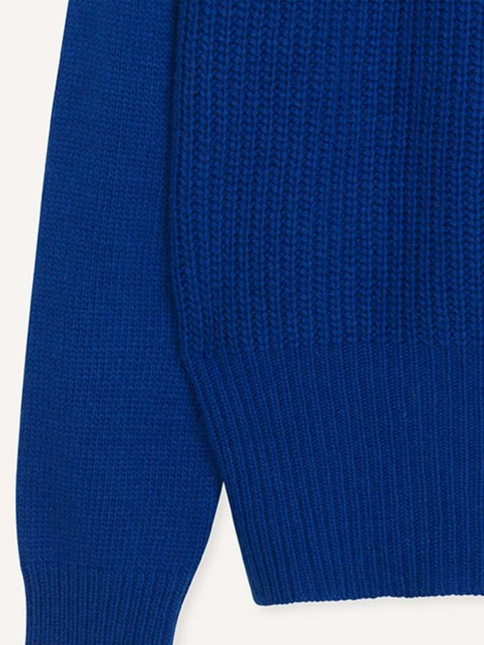 Hold Wollen Trui Electric Blue-2