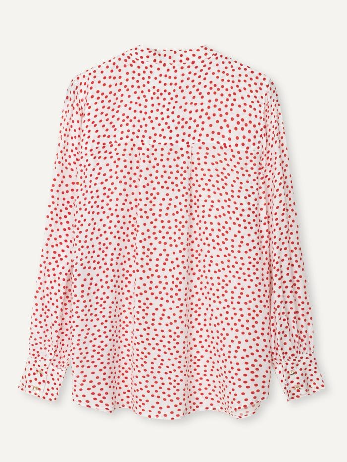 Polly Fire Red Polka Dot Shirt-3