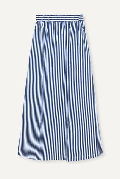 Box Royal Stripe Skirt White Blue