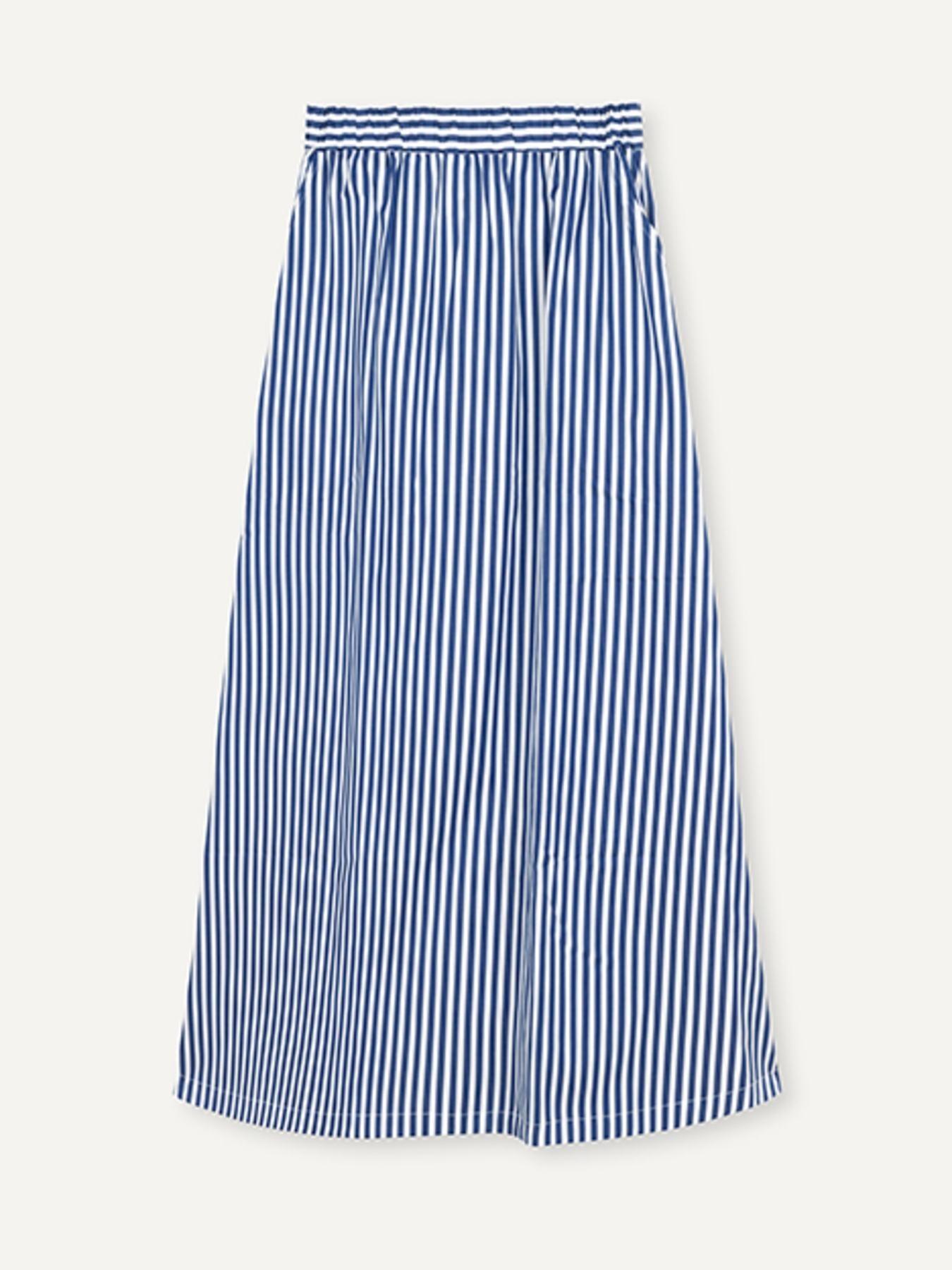 Box Royal Stripe Rok Wit-Blauw-1