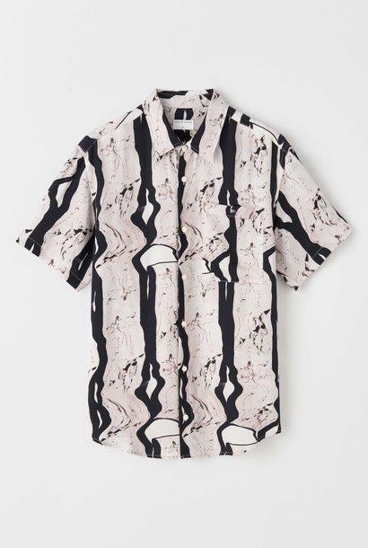 Didon zwart wit artwork overhemd met korte mouwen