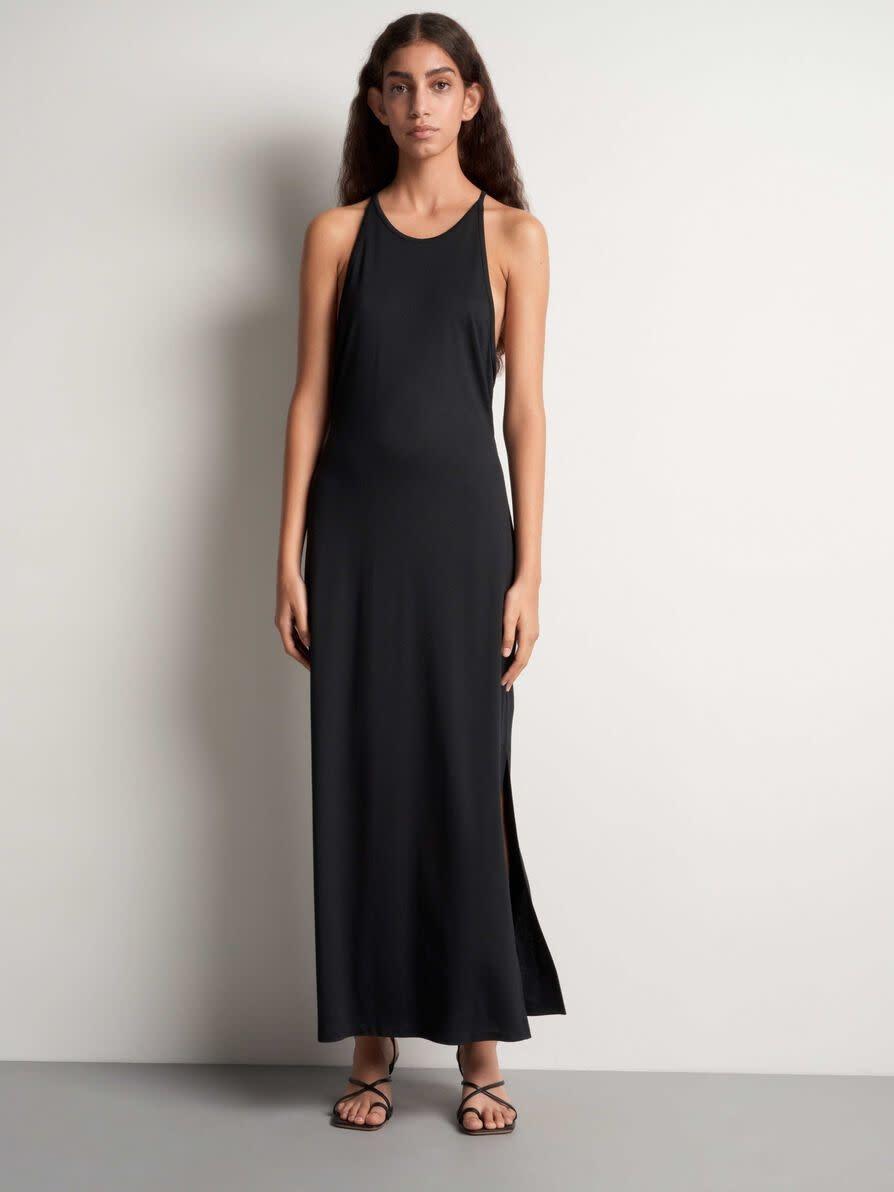 Soli Long Maxi Dress Black-1