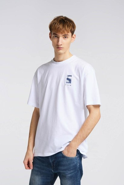 Fuji Scenery Print T-Shirt White